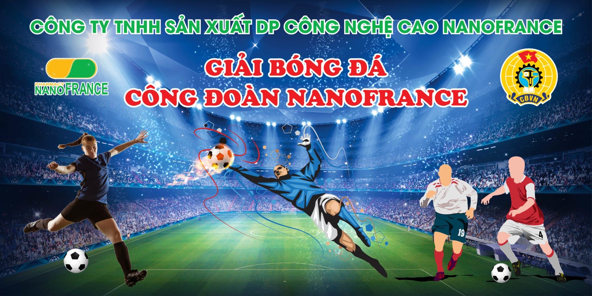 Banner bóng đá Công Đoàn
